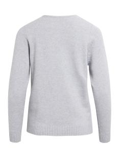 viril l/s v-neck knit top-noos 14042769 vila trui light grey melange