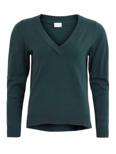 VIBEKKA V-NECK KNIT TOP TB Pine Grove