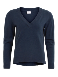 Vila Trui VIBEKKA V-NECK KNIT TOP TB 14042912 Dark Navy