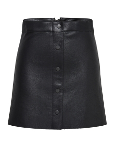 Only Rok onlAYA FAUX LEATHER SKIRT OTW 15141384 Black