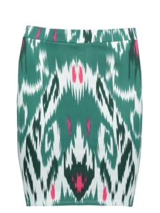 Vero Moda Rok VMMARRAKECH N/W SHORT SKIRT EXP 10193728 Snow White/ Green and