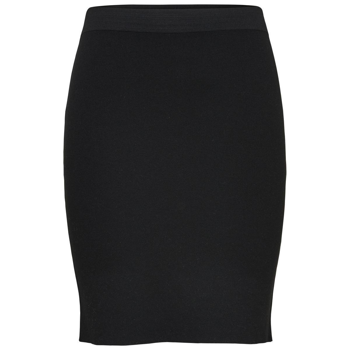 onlbecky lisa l/s skirt knt only rok black