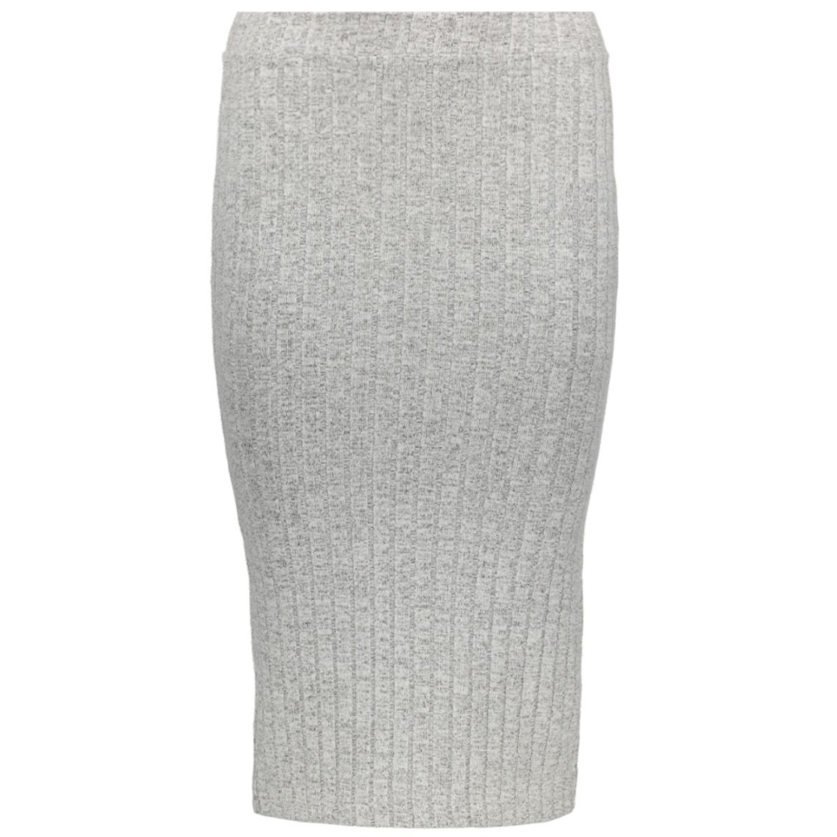onlida rib skirt knt 15138965 only rok light grey melange