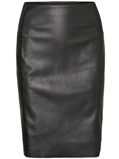 Vero Moda Rok VMRIB BUTTER HW KNEE PU SKIRT 10181958 Black Beauty