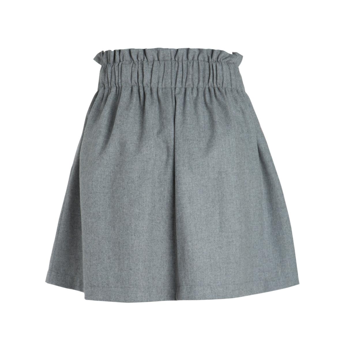 pcnanette hw skirt 17083937 pieces rok medium grey melange