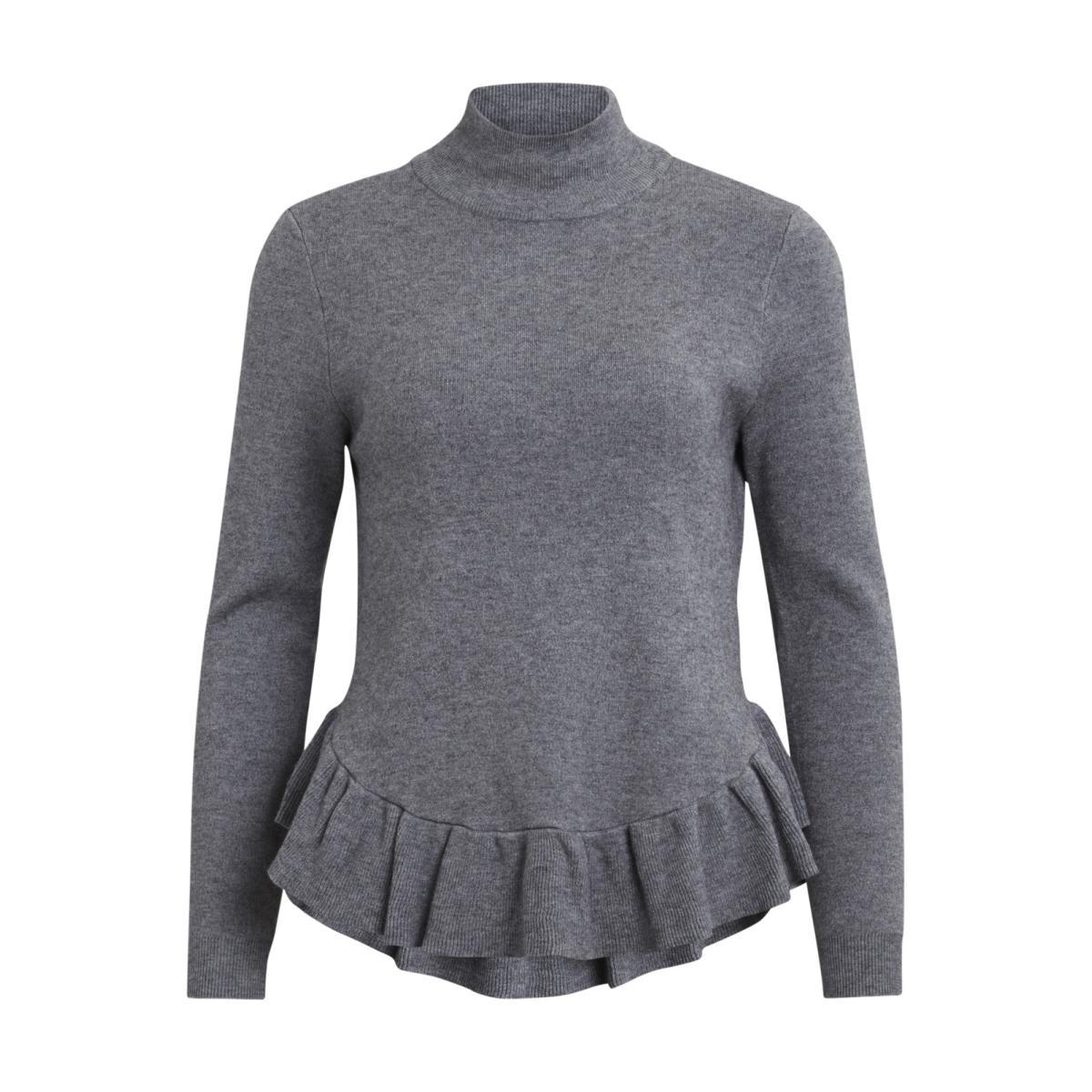 objcarin l/s knit pullover 92 23024872 object trui medium grey melange
