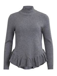 Object Trui OBJCARIN L/S KNIT PULLOVER 92 23024872 Medium Grey Melange