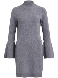 Object Jurk OBJCARIN L/S KNIT DRESS 92 23024871 Medium Grey Melange