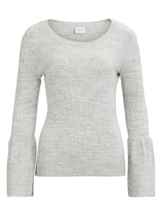 Vila Trui VILESLY BELL SLEEVE KNIT TOP 14042902 Super Light Grey Melange