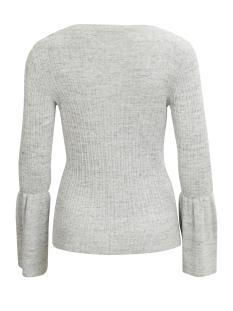 vilesly bell sleeve knit top 14042902 vila trui super light grey melange