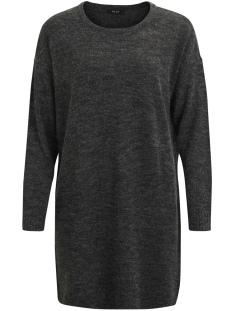 Vila Jurk VIRIVA L/S KNIT DRESS-NOOS 14029147 Dark Grey Melange
