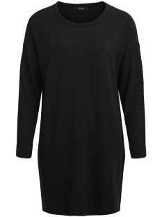 viriva l/s knit dress-noos 14029147 vila jurk black