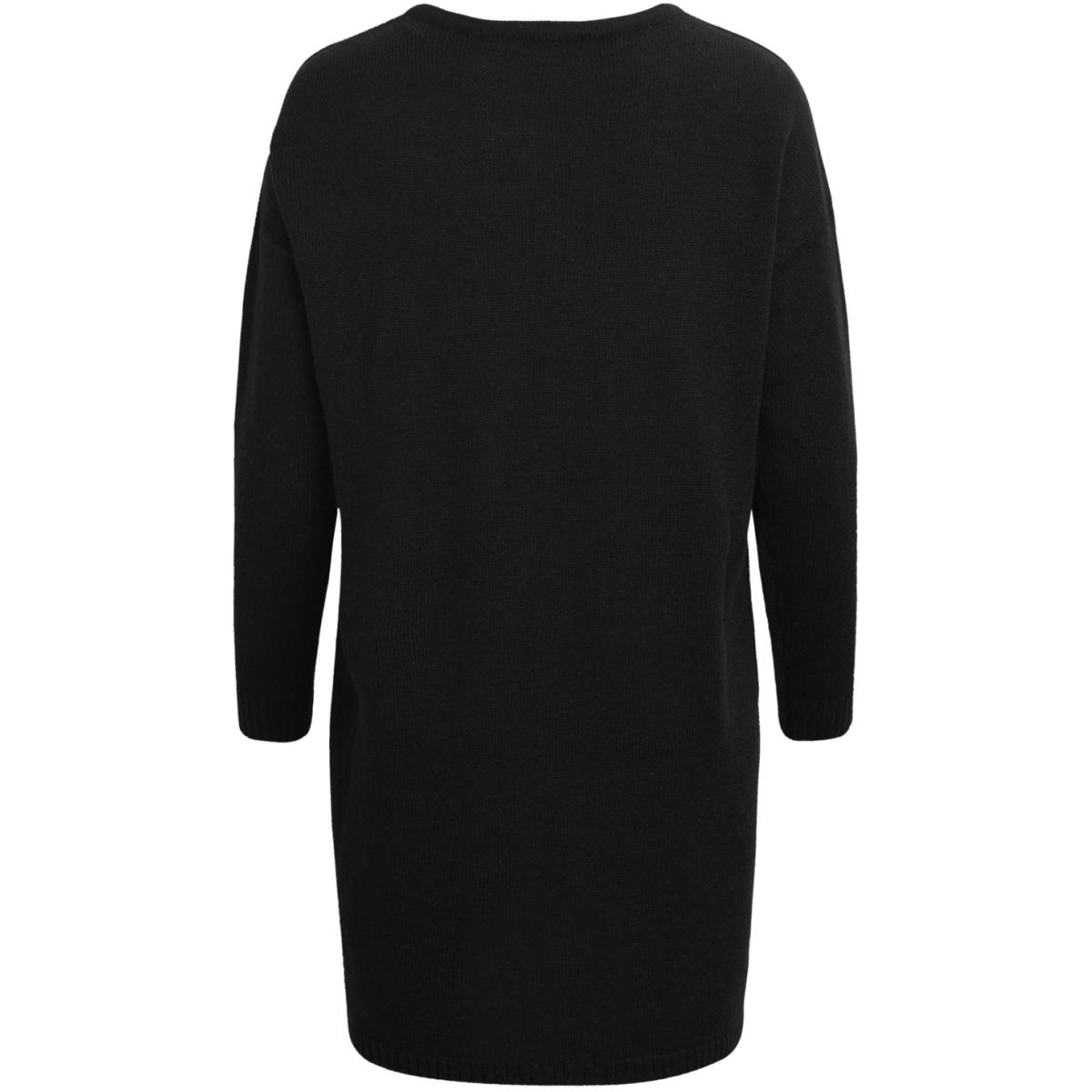 viriva l/s knit dress-noos 14029147 vila jurk black