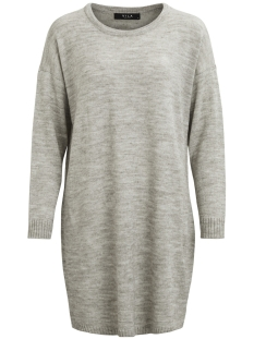 Vila Jurk VIRIVA L/S KNIT DRESS-NOOS 14029147 Light Grey Melange