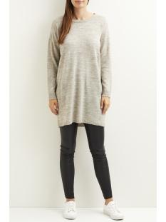 viriva l/s knit dress-noos 14029147 vila jurk light grey melange