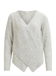Vila Trui VICANT WRAP KNIT TOP-NOOS 14043009 Light Grey Melange