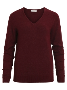 Vila Trui VIRIL L/S V-NECK KNIT TOP-FAV 14043283 Cabernet/Melange