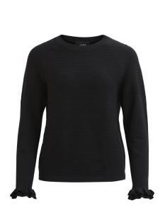 Object Trui OBJFUERLA MORGAN L/S KNIT PULLOVER 23025740 Black