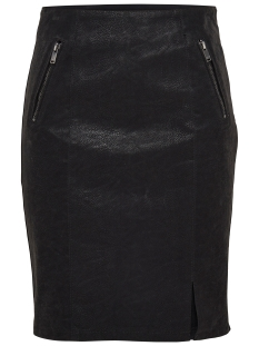 Only Rok onlCAMPBELL FAUX LEATHER MIX SKIRT 15137600 Black