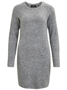 Object Jurk OBJNONSIA RIB L/S KNIT DRESS NOOS 23024913 Light Grey Melange