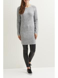 objnonsia rib l/s knit dress noos 23024913 object jurk light grey melange