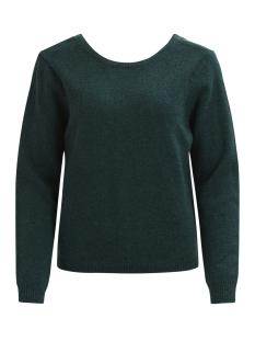 vilam l/s lace detail knit top 14043055 vila trui pine grove/melange