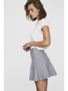 vmfresno short knit skirt noos 10185357 vero moda rok medium grey melange