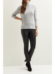viflary l/s turtleneck knit top/tb 14043606 vila trui light grey melange