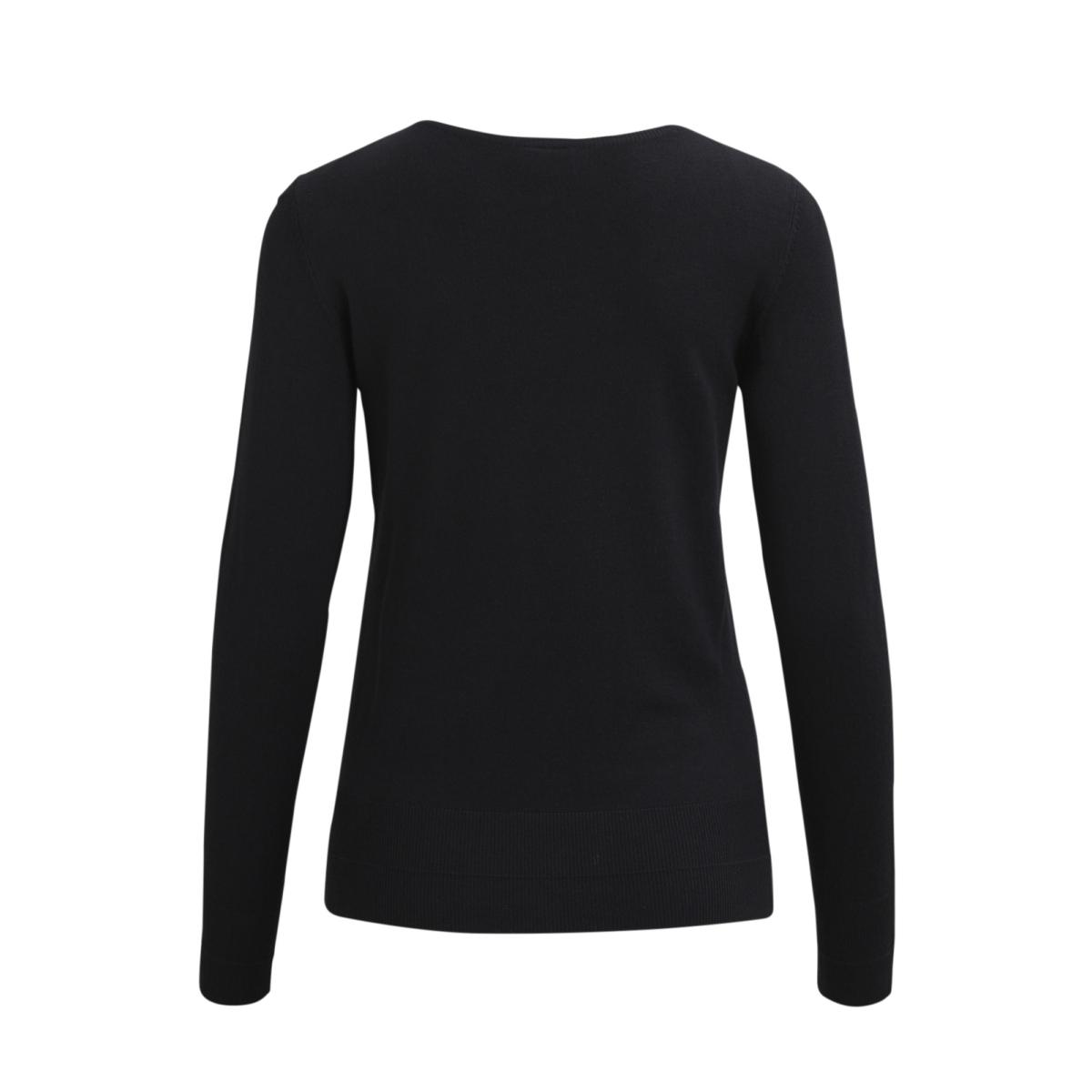 vihelena l/s detail knit top/gv 14043059 vila trui black