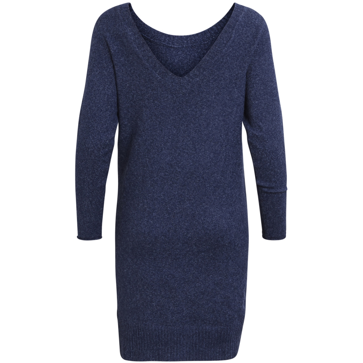 vispecific l/s knit dress 14043861 vila jurk dark navy/white mela