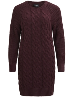 Object Jurk OBJROCCI L/S KNIT DRESS .I 92 23024851 Winetasting