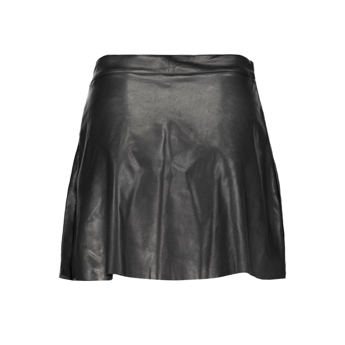 onlsacha shiny faux leather skirt o 15145243 only rok black/metallic