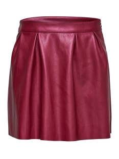 Only Rok onlSACHA SHINY FAUX LEATHER SKIRT O 15145243 Sun Dried Tomat/Metallic