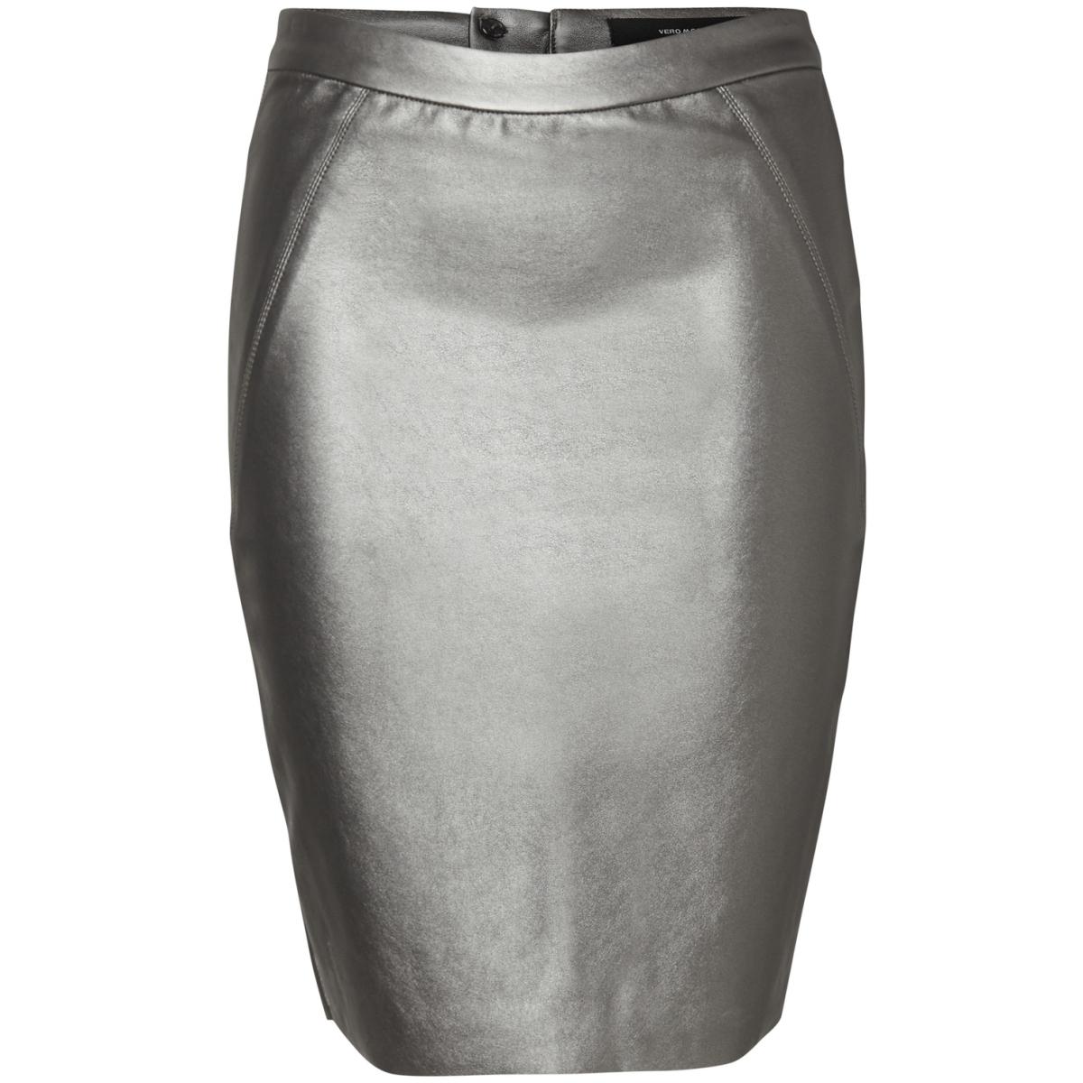 vmninea hw metal pencil skirt 10188294 vero moda rok silver
