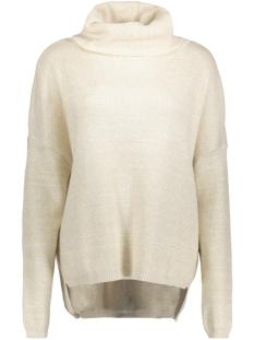 objgianna silli l/s knit pullover a 23026437 object trui gardenia/gold lurex