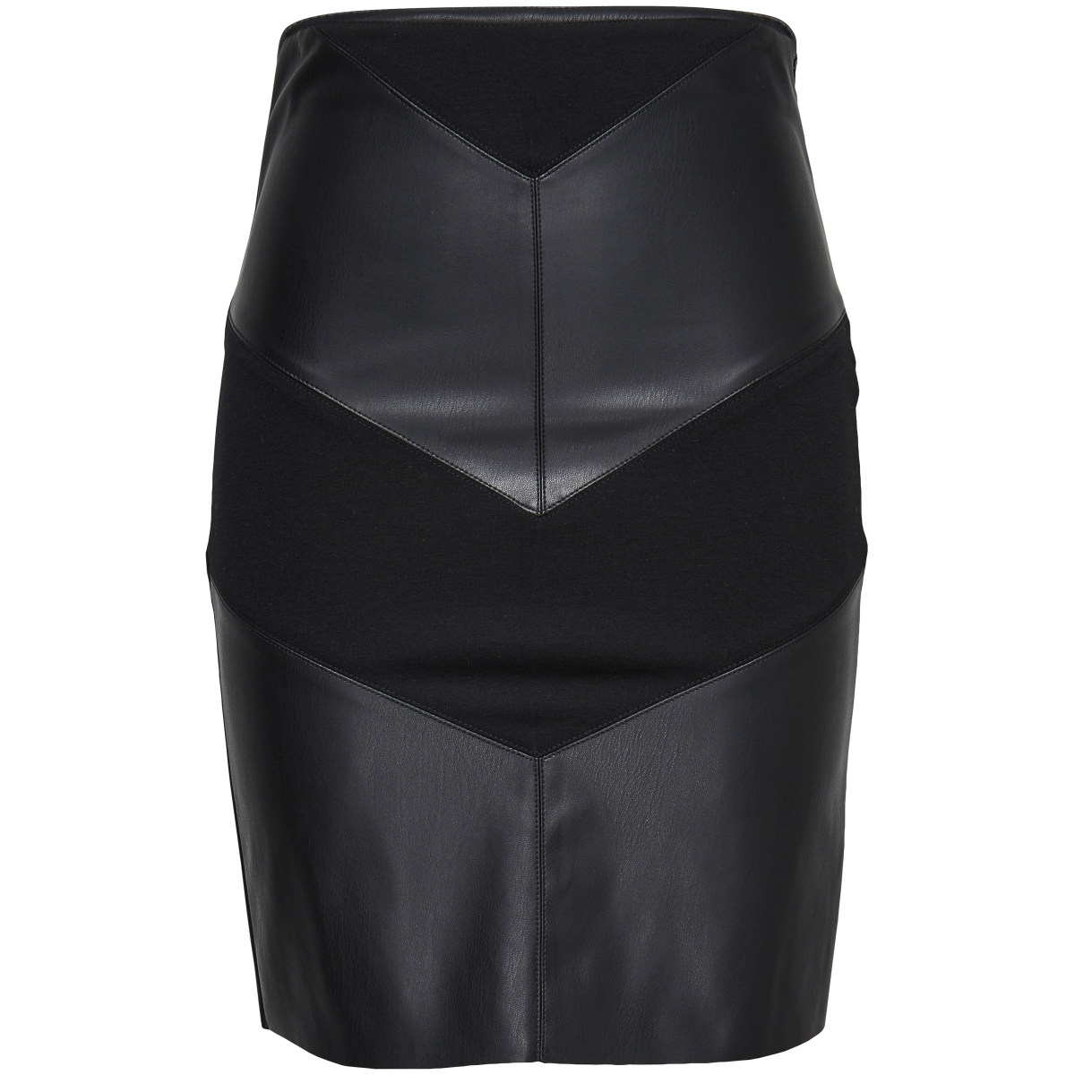 onlmary faux leather mix midi skirt 15143185 only rok black