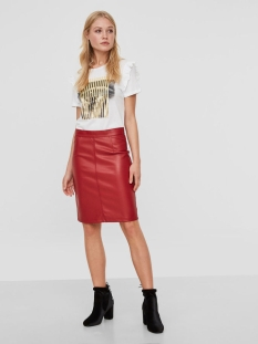 nmpenny pu skirt noos 27001695 noisy may rok flame scarlet