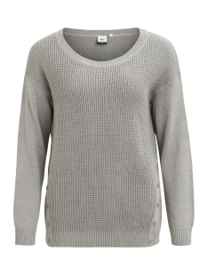 Object Trui OBJDEAH L/S KNIT PULLOVER .I REP 23022727 Light Grey