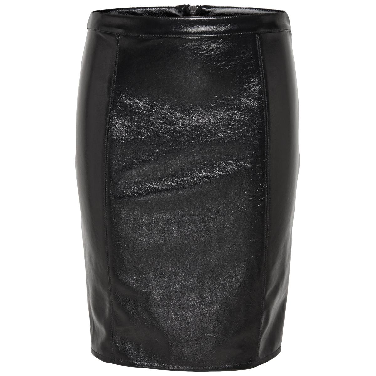 onlann faux leather midi skirt otw 15144427 only rok black