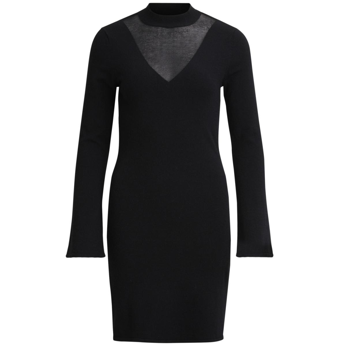 vikimma l/s knit dress 14043667 vila jurk black