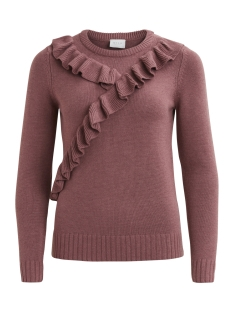 vikarlina l/s knit top/tb 14043610 vila trui renassance rose/melange