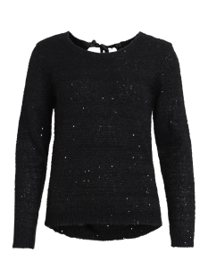Vila Trui VIMINTY L/S RIBBON KNIT TOP 14043815 Black/W. BLACK S