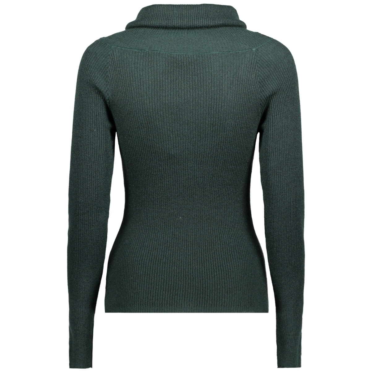 vivenna l/s offshoulder knit top 14043817 vila trui pine grove/black lure