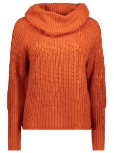 Vila Trui VIVIEW L/S COWLNECK KNIT TOP TB 14042715 Rooibos Tea