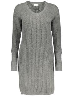 Vila Jurk VIVIEW L/S KNIT DRESS TB 14042721 Medium Grey Melange