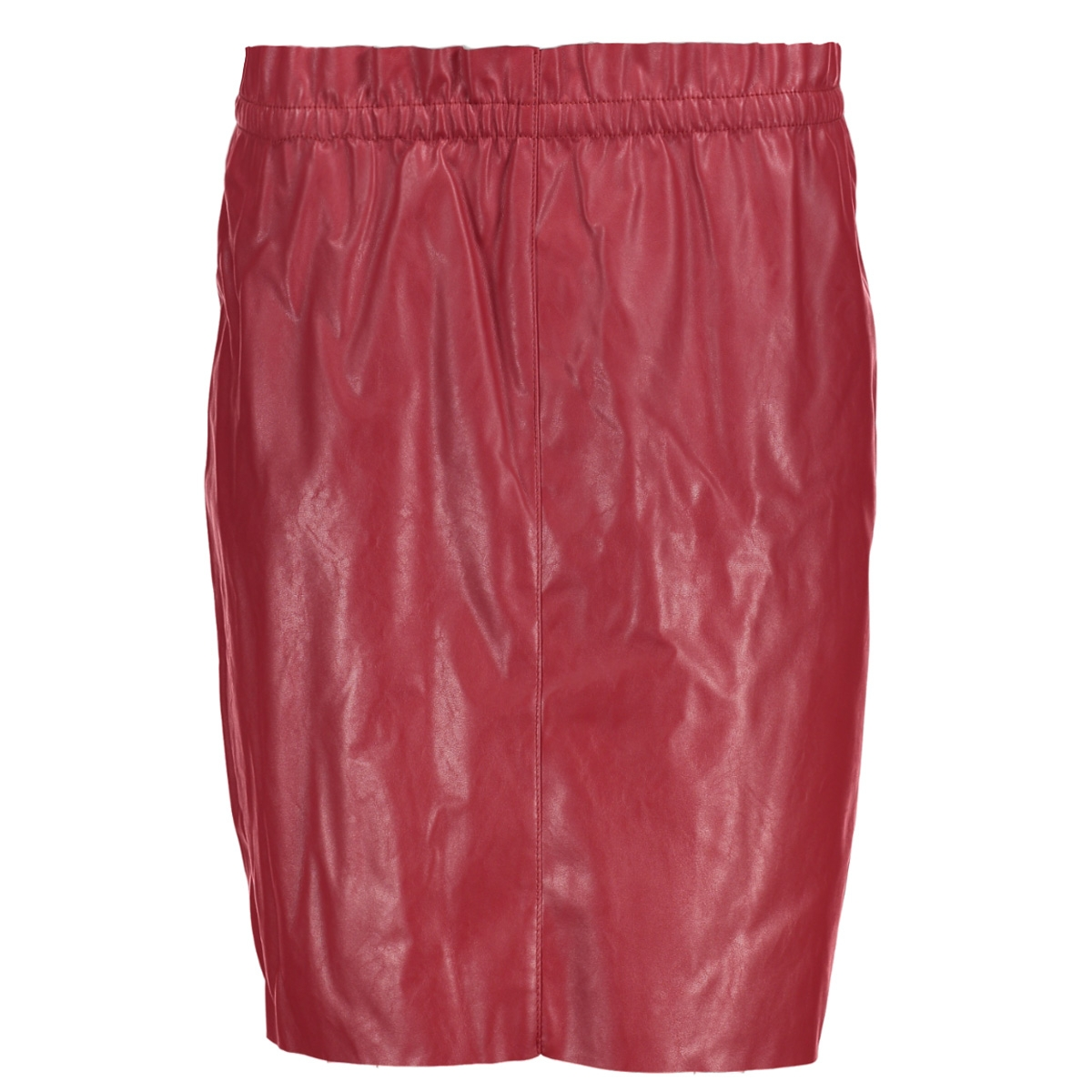 vmfame hw above knee faux leather s  10188796 vero moda rok lychee