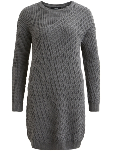 Object Jurk OBJCLOUDY L/S KNIT DRESS NOOS 23024911 Medium Grey Melange