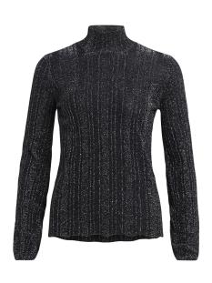 vimarbel l/s knit top 14043705 vila trui black