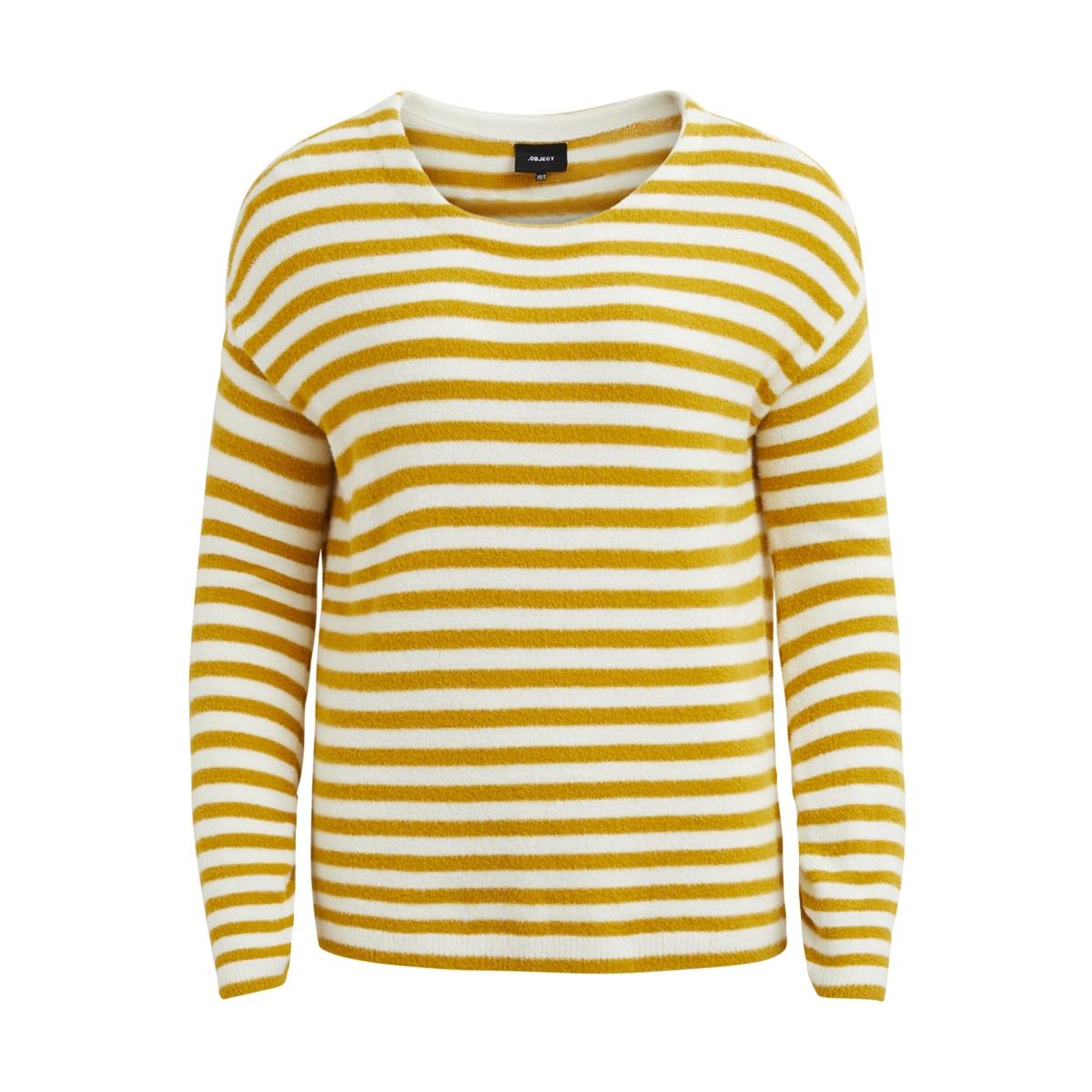 objlauren l/s pullover a wi 23026605 object trui gardenia/harvest