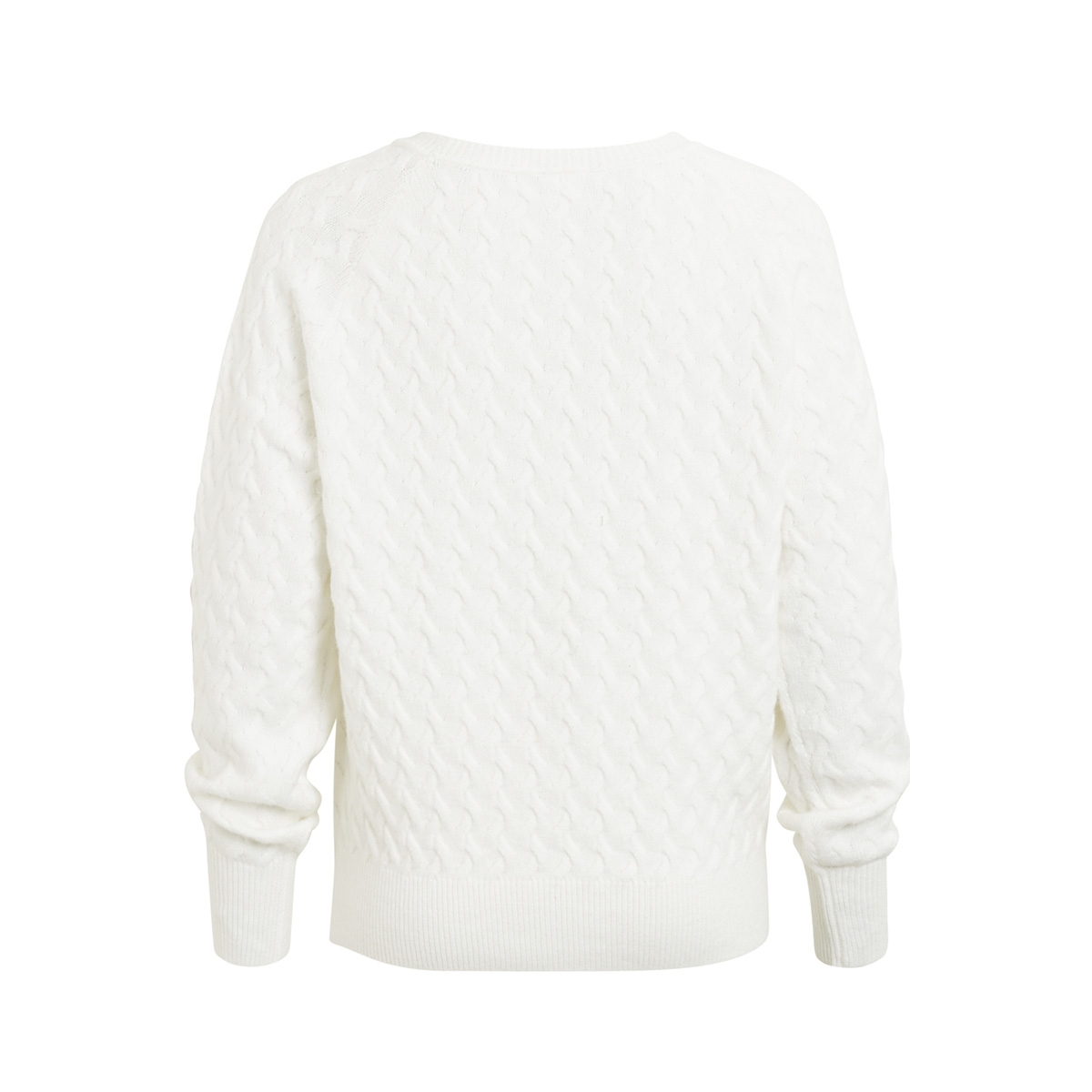 vixa l/s knit top 14044547 vila trui white alyssum